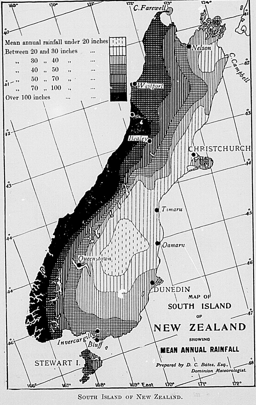 The New Zealand Official Year Book 1915 Tropical 1447 Plymouth Wiring Diagram South Island Late Autumn Winter And Early Spring Are Frequently Dry While Summer Sometimes Suffers From Too Frequent Showers