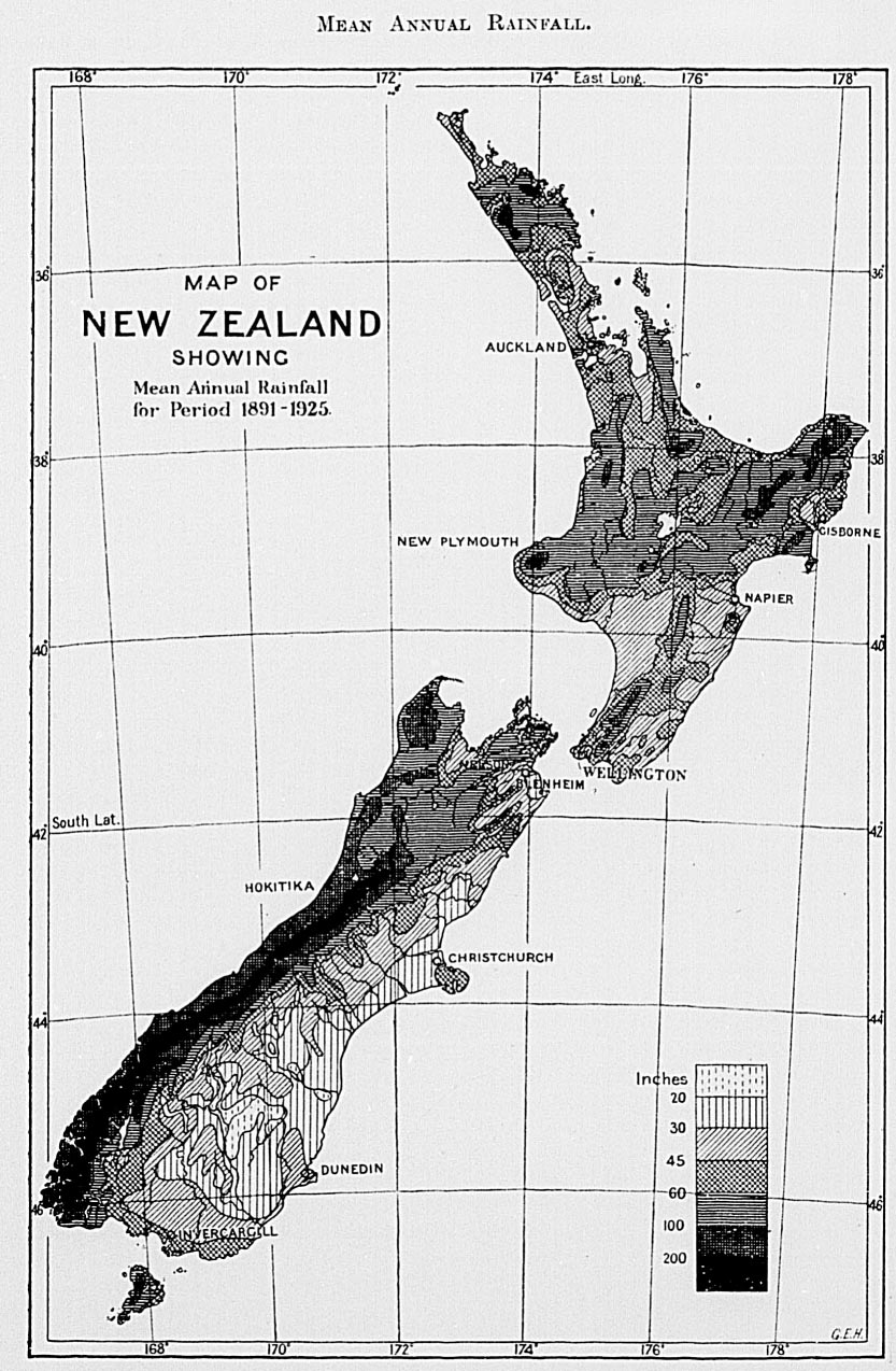 The New Zealand Official Year Book 1931 Woods Mowing Machine 6100 Wiring Digram When General Wind Is Almost Due South West Or Practically Parallel To Main Range In Both Islands Many Parts Of Dominion Are Protected