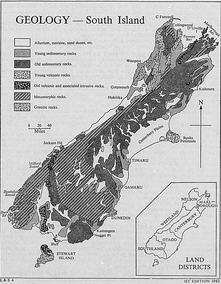 The New Zealand Official Year Book 1967 Old House Wiring Nz Largest Forms Canterbury Plains And Consists Of Shingle Deposits Unknown Thickness Washed